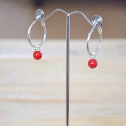 Boucles d'oreilles coquelicot