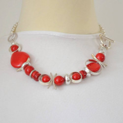 COLLIER MULTI COQUELICOT