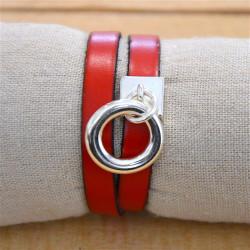 Bracelet cuir aimanté Donut