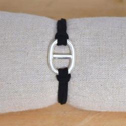 bracelet en suédine maille marine M