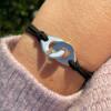 Bracelet menottes suédine