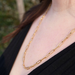 Collier chaine rectangle