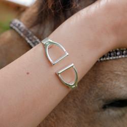 """bracelet demi jonc """"mors  de cheval"""" face à face"""